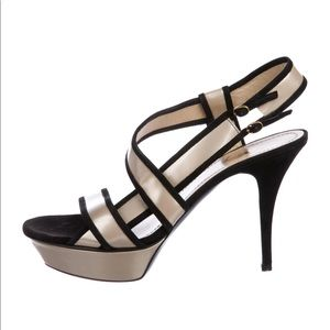 YSL Patent Leather and Suede Platform Heels